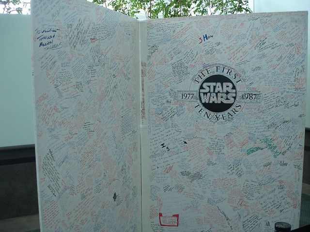 Star Wars Celebration IV - 10th anniversary fan signature wall