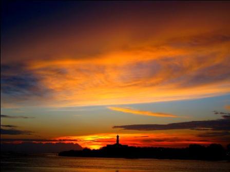sunset landscape gold scenery masjid muar jamek bandarmaharani