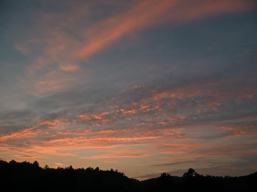 sunset westvirginia lewisburg campalleghany greenbrierriver campalleghanyforgirls