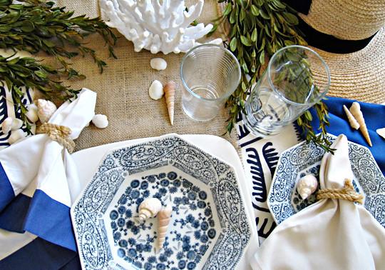 Beach Table Setting Ideas Nautical Rope Napkin Rings A