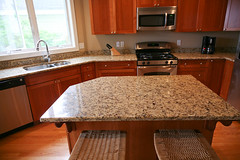 floor, kitchen, countertop, wood, room, property, granite, interior design, hardwood, cabinetry, home,