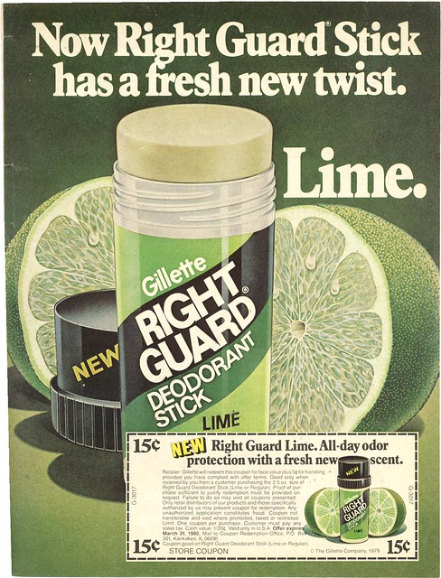 "Right Guard LIME Deodorant from late ""70s/early ""80s"