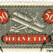 Switzerland postage stamp: plane
