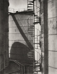 il tanks and spiral stairways, Hamburg, 1928, by E.O. Hoppe