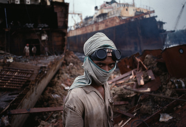 Young Welder, Bombay, India, 1994, by Steve McCurry