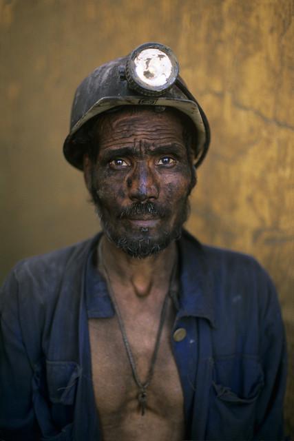 Coal Miner, Pul i Khumri, Afghanistan, 2002, by Steve McCurry