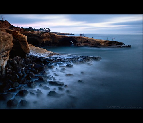 ocean california longexposure beach coast twilight rocks sandiego dusk hightide sunsetcliffs ndx400