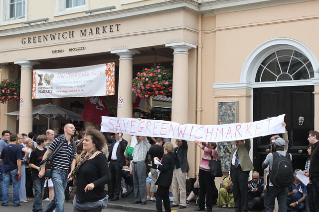 Greenwich Market Protest