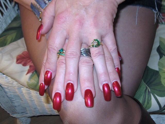 Long Nails Many Rings 88