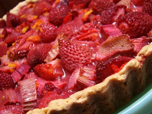 Rhubarbed Strawberry Daiquiri Tart Plated