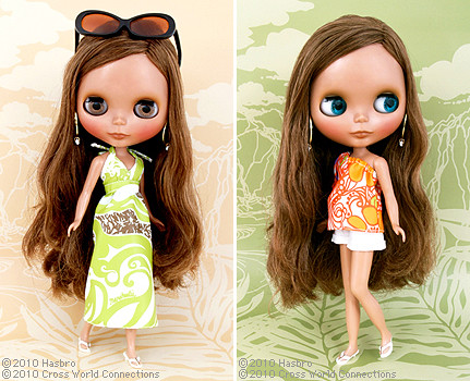 "Final design for the CWC Exclusive Neo Blythe ""Manuheali'i Paradise Girl"