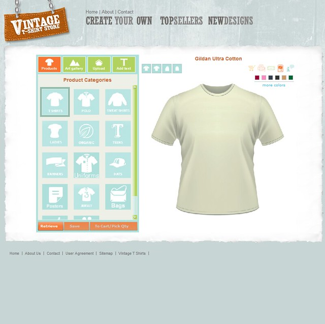 Custom t shirt design software and application tool by for Custom t shirt software