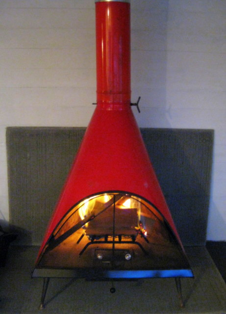 Magestic mid century fireplace flickr photo sharing - Mid century modern wood stove ...