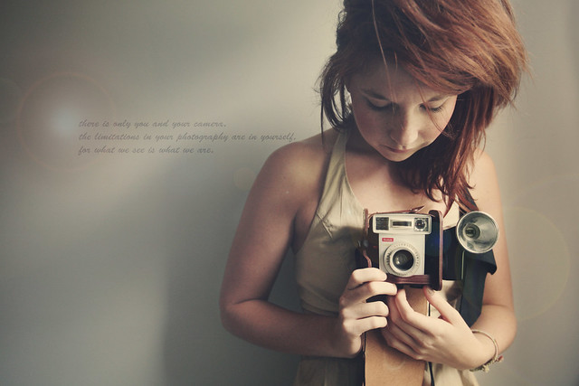 there is only you and your camera.