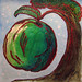 Baked Apples food painting for the vegetarian recipes cookbook by Australian artist Fiona Morgan