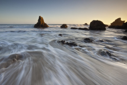 Sweeping Waves - El Matador State Beach, Malibu, California