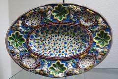 art, dishware, platter, plate, porcelain,