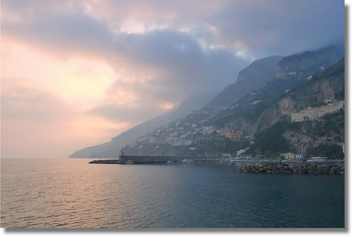 sunset over Amalfi