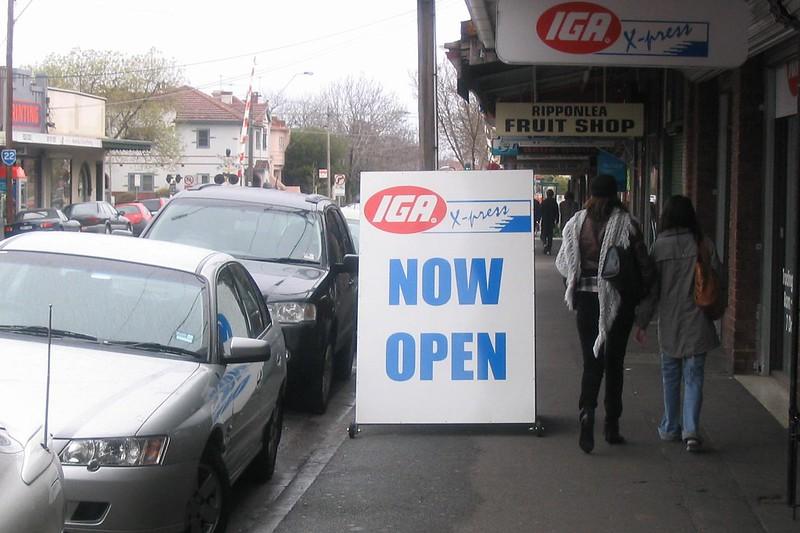 Ripponlea IGA massive sign, July 2007
