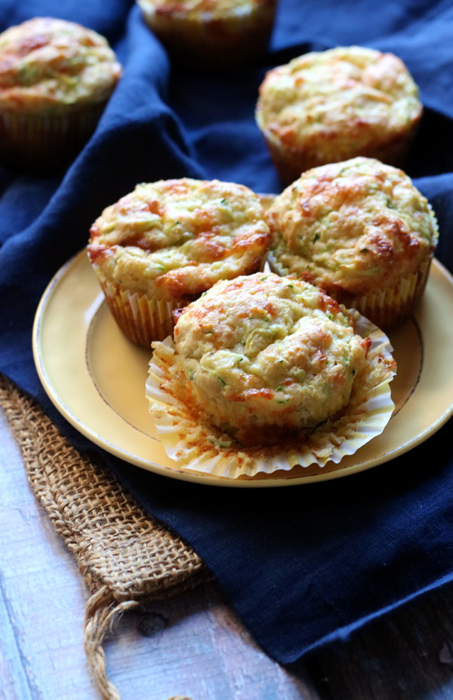 Savory Brown Butter Zucchini Cornbread Muffins | Joanne ...