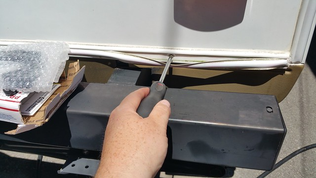 Removing the trim screws