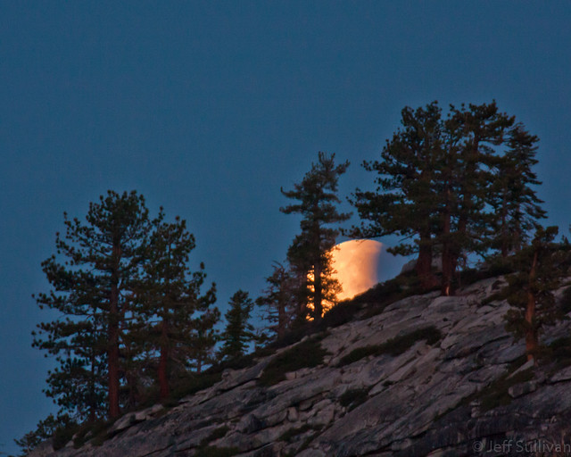 Lunar Eclipse Moonset by Olmsted Point