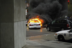 Burning Cop Car - Bay & King