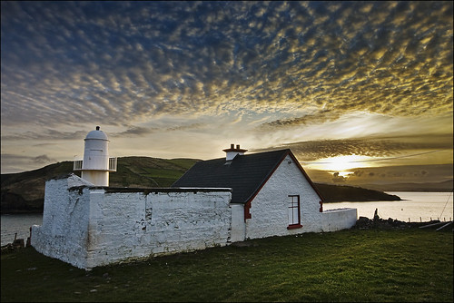 ireland sunset lighthouse dingle kerry