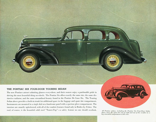 1935 pontiac six four door sedan touring sedan flickr