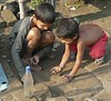 Boys playing at Hooghly-Chinsurah, West Bengal