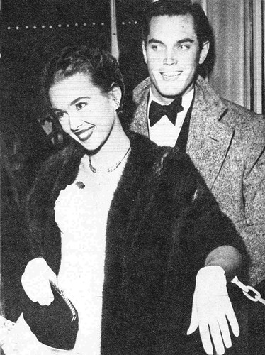 A beautiful married couple - Barbara Rush & Jeffrey Hunter
