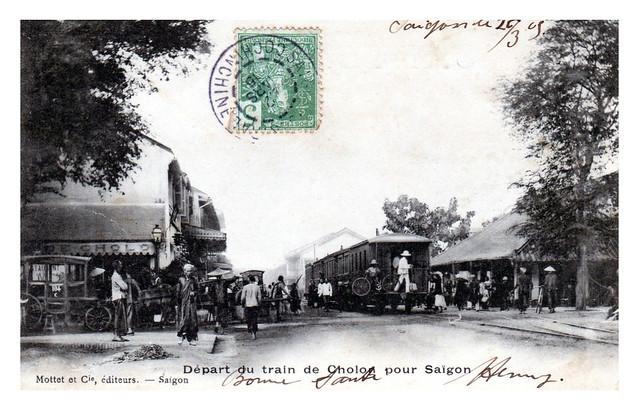 Le tramway dans les rues de Cholon 1910