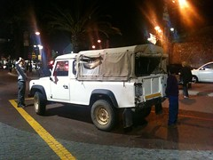 Want. Old-school Land Rover Defender pickup truck (Cape Town)