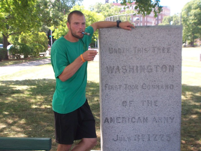lieutenant henricks at the birthplace of the american army
