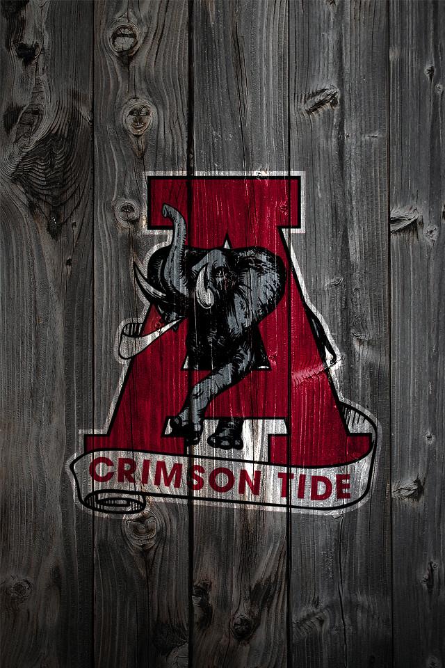 Alabama crimson tide alternate logo 2 wood iphone 4 background a photo on flickriver - Alabama backgrounds ...