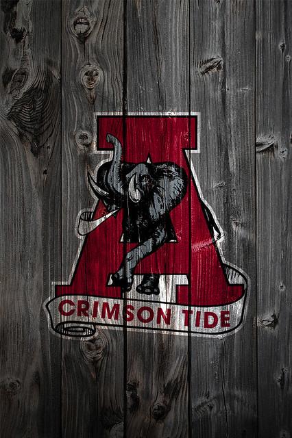 Alabama Crimson Tide Alternate Logo 2 Wood iPhone 4 ...