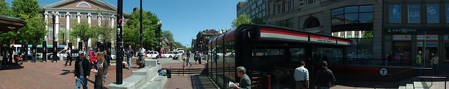 Panorama of the Pit in Harvard Square