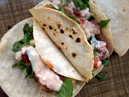 Bring the baja to your kitchen easy fish tacos with for Fish taco sauce yogurt