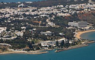 Le palais de Carthage vu du ciel