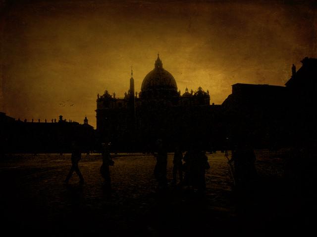Sunset Vaticano dark version