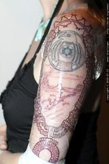 rachel's new tattoo in progress