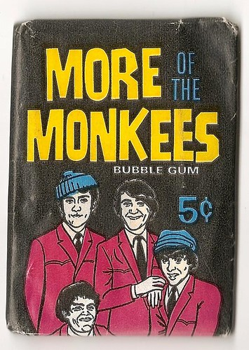 front of monkees sealed bubblegum cards