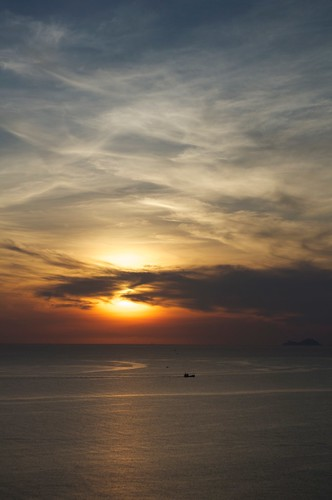 ocean sea cloud sunrise landscape boat raw vietnam nhatrang