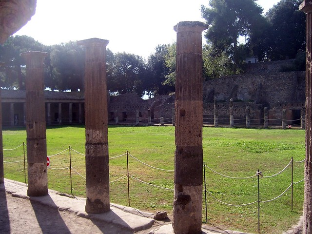 The quadriporticus or the Gladiator's Barracks, Pompeii