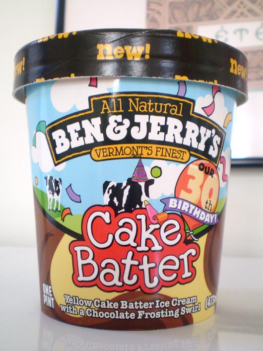 2008 Ben & Jerry's 30th Birthday Cake Batter Ice Cream Container ...