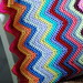 scrappy chevron pillow