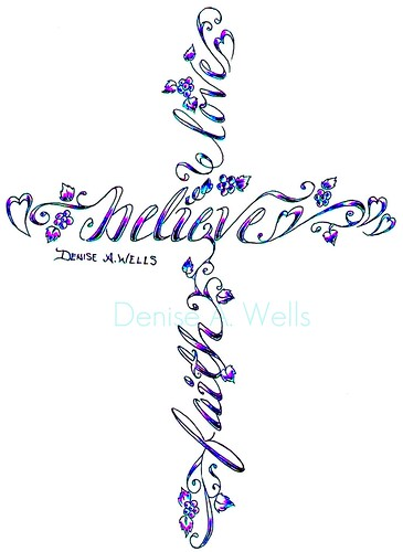 Faith Hope Love Cross Tattoo Designs Images &amp Pictures  Becuo