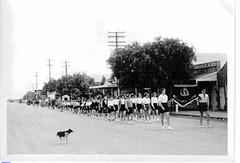 Mallala Primary School marching along Wasleys Road