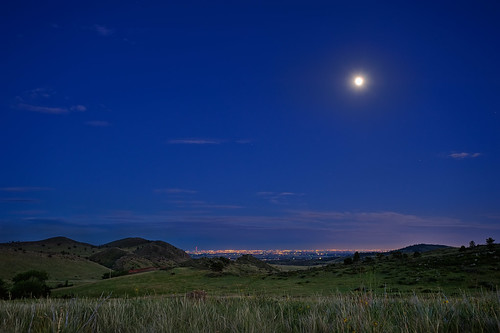 city blue moon foothills nature night landscape lights evening nikon cityscape nightscape indigo luna hills loveland moonrise bluehour openspace frontrange lunar nightfall 2010 larimer carterlake monnrise d700