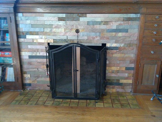 Dry Stack Slate Fireplace Flickr Photo Sharing